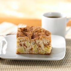 This cheerful, home-style apple cake is topped with a tasty sprinkle of cinnamon sugar. It's perfect as a lunchbox snack or after dinner with a scoop of French vanilla ice cream.
