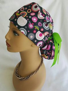 Ponytail scrub hat with ribbon  Scrub hat   Nurses hats   Operating Room hat    Surgical scrub hat   Scrub Techs hats   Scrub hats  Scrub cap ff7543db4ddb