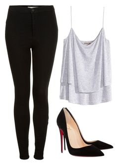 """""""Street Style"""" by mari-marishka ❤ liked on Polyvore featuring Topshop, H&M and Christian Louboutin"""