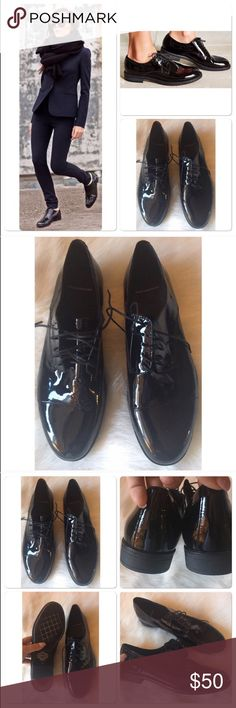 Vagabond Anime patent oxford Worn once very gently, gorgeous. No trades. Size 41 = women's 9.5. Vagabond Shoes Flats & Loafers
