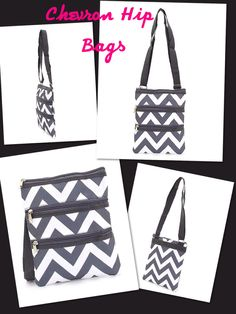 Gray chevron hip bag! Adorable!