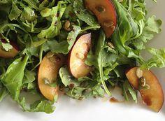 Arugula Salad with Plums and Pumpkin Seeds | SeasonsTaproom.com