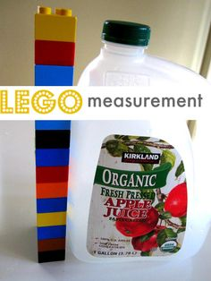 Lego measurement. Using Legos was a standard unit of measure to help kids learn to measure everyday objects.