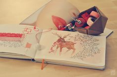 love this little peek into the sketchbook of Oana Befort ~ embodies the whimsical joy of the season to me, found on her lovely blog