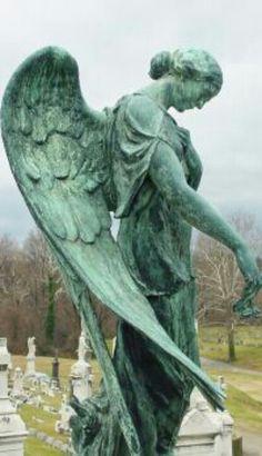 Beautiful copper angel