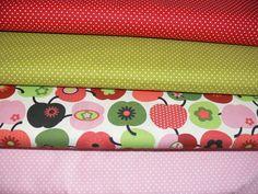 Stoffpaket Äpfel und Punkte von AllerHandArbeiten auf DaWanda.com