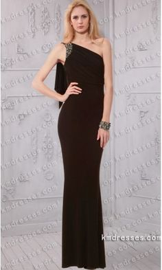 Asymmetric beaded one shoulder Ruched bodice floor length evening dress.prom dresses,formal dresses,ball gown,homecoming dresses,party dress,evening dresses,sequin dresses,cocktail dresses,graduation dresses,formal gowns,prom gown,evening gown.