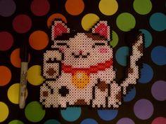 Maneki Neko perler bead sprite by blackarach on deviantart
