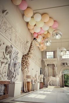Pastel balloons / aynhoe park in Oxfordshire, England