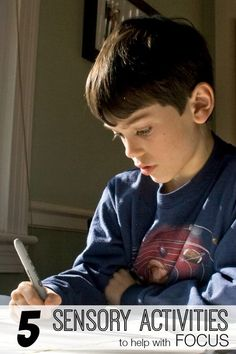 5 Sensory Activities that Help with Focus