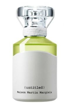 love the waxed cord wrap and the bottle--looks like it was dipped in white matte latex paint. [untitled] perfume by Martin Margiela.