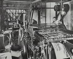 Printing press, Harry Phillips' second shop, Katoomba Street, Katoomba