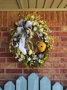 Outdoor Wreaths, Wreaths And Garlands, Ribbon Wreaths, Outdoor Decor, Summer Door Wreaths, Holiday Wreaths, Spring Wreaths, Diy Wreath, Wreath Ideas