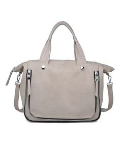 Another great find on #zulily! Gray & Silver Pebble Fremont Satchel by Moda Luxe #zulilyfinds