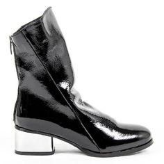 V 1969 Italia Womens Short Boot B2500 FINISH NERO