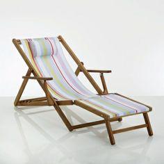 Chaise longue / sdraio pieghevole color avorio | For the Garden ...