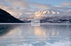 Frozen Lake on Alaskan Peninsula