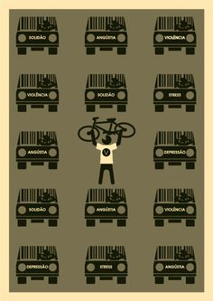 Bicicleta Girassol Bike Poster