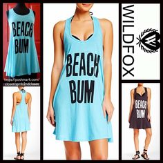 "WILDFOX Tank Dress Beach Bum Mini WILDFOX Tank Dress 'Beach Bum'   NEW WITH TAGS  RETAIL: $88  * A relaxed fit & oversized A-line silhouette  * Incredibly soft & comfortable  * Graphic detail on front; A texture that is purposely subtly distressed. * About 28"" long   * A scoop neckline & tank straps  Fabric: 100% Cotton; Machine wash, Made in the USA Color: Turquoise & black Item: WF   No Trades/PAYPAL ✅ Offers Considered*✅ ✅ Bundle Discounts  ✅ Wildfox Dresses Mini"