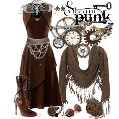 """Steampunk Formal Wear"" by smylin on Polyvore"