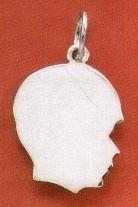 Engraveable Sterling Silver Boy Silhouette Charm    http://www.silvermessages.com/sterlingsilverjewelry/product/5837.html