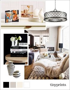 Style your space with black and white color combinations.