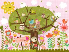 Bloomin' Birdies - Birds Canvas Wall Art   Oopsy daisy