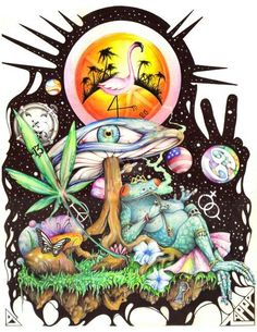 Faded Ideas - Stoner Art - All images are hand picked by stoners from stoners each image has been brought to you by you. We love each stoner image you. Psychedelic Art, Trippy Pictures, Pictures Images, Marijuana Art, Cannabis Oil, Medical Marijuana, Stoner Art, Weed Art, Psy Art