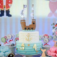 Mermaid pirate ship cake