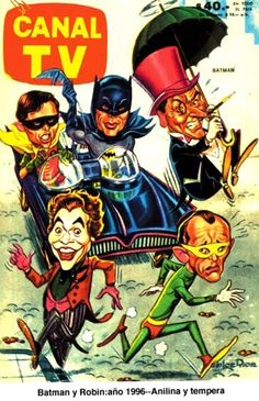 Argentinian TV Guide Batman Cover (1966)
