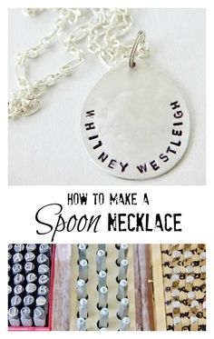 How to make a stamped spoon necklace thistlewoodfarms.com.