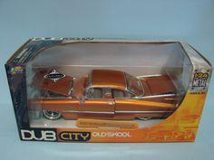 Jada Toys Dub City Old Skool 1959 Cadillac Coupe De Ville KMC Orange 1/24 Scale Die Cast Car