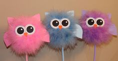 Owl centerpiece and party decoration, choice of one, available in a variety of colors and combinations