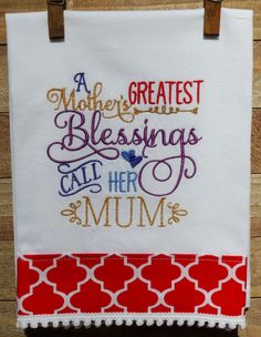 A mother's greatest blessing... by seechriscreate on Etsy