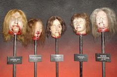 Piked heads at Madame Tussaud's Wax Museum