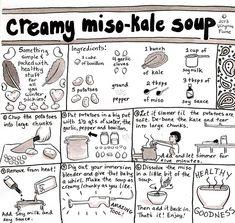 Creamy Miso-Kale Soup