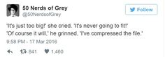 50 Nerds of Grey VS 50 Shades of Grey