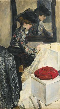 "Walter Bondy (German, 1880-1940), ""Opening the Hat Box"", 1899"