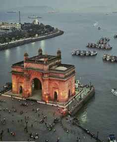 "The Gateway of India is an arch monument built during the century in Bombay, India.indiaClickBy ""The Gateway of India, Mumbai. Rishikesh, Backpacking India, Backpacking South America, Mumbai City, In Mumbai, Varanasi, New Travel, India Travel, Himalayan"