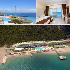 Antalya'nın en güzel sahilinde, sıcacık kumları ve turkuaz rengi denizi ile Grand Park Kemer sizlere görkemli bir tatil sunuyor.