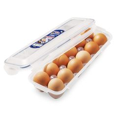 Egg Storage Container 12 Eggs Holder Lock & Lock Food Storage Egg Box Tray #Lock&Lock