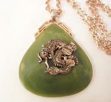 can't miss todays arrivals large dragon necklace  http://www.rubylane.com/item/525363-2395/Large-Asian-faux78-Jade-cast