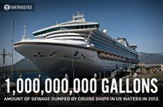 ONE BILLION GALLONS: That's how much sewage was dumped into U.S. waters by cruise ships alone in 2013. That doesn't even include the discharge from the tens of thousands of other cargo ships and oil tankers visiting our ports. To tackle this problem, our attorneys are now filing a lawsuit for stronger regulation of sewage discharge from ships into U.S. waters. http://earthjustice.org/cases/2014/cleaning-up-sewage-flows-from-cruise-ships  Sewage waste fro... See More