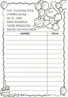 Menta Más Chocolate - RECURSOS PARA EDUCACIÓN INFANTIL: Cumpleaños: Carteles y Rótulos