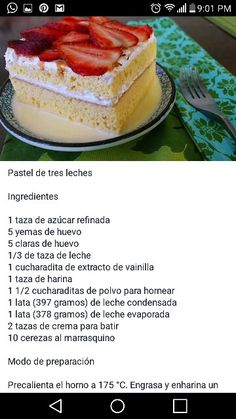 Gourmet Recipes, Sweet Recipes, Mexican Sweet Breads, Boricua Recipes, Gelatin Recipes, Mexican Dessert Recipes, Cake Mix Recipes, Cake Tasting, Pastry Cake