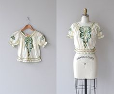 Little Bohemia blouse  vintage 1930s blouse  by DearGolden on Etsy