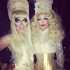 """""""Me and my sister @pearliaison ! Blonde, expensive, stupid - Trixie Mattel"""