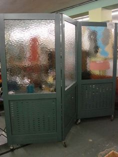 Industrial Room Divider with Red Caster Wheels Assist w Shipping Arrangements   eBay