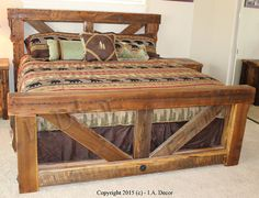 Timber Frame Trestle Bed Rustic Bed Big Timber Bed Queen