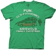 Amazon.com: Griswold Family Christmas Good Old Fashioned Fun T-Shirt, Green ,L: Clothing